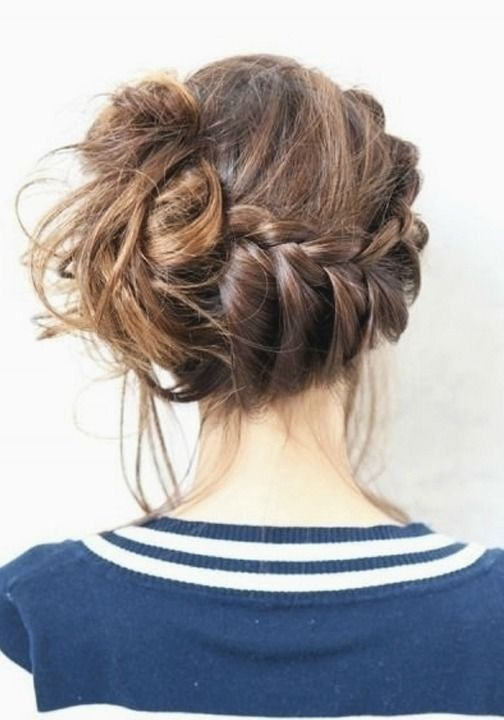 The messy bun is a cool and casual summer hairstyle. http://stylecaster.com/beauty-high/messy-buns-fav-pinterest-picks/