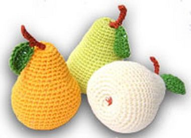 Груша, апельсин и банан