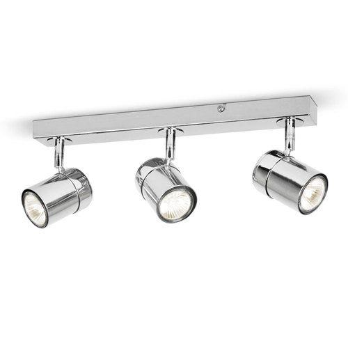 Modern Silver Chrome 3 Way Halogen Ceiling Light Spotlight