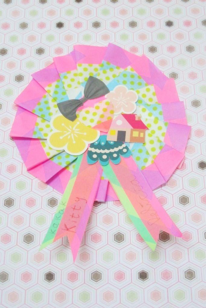 DIY Paper medallion washi tape | kitty manu