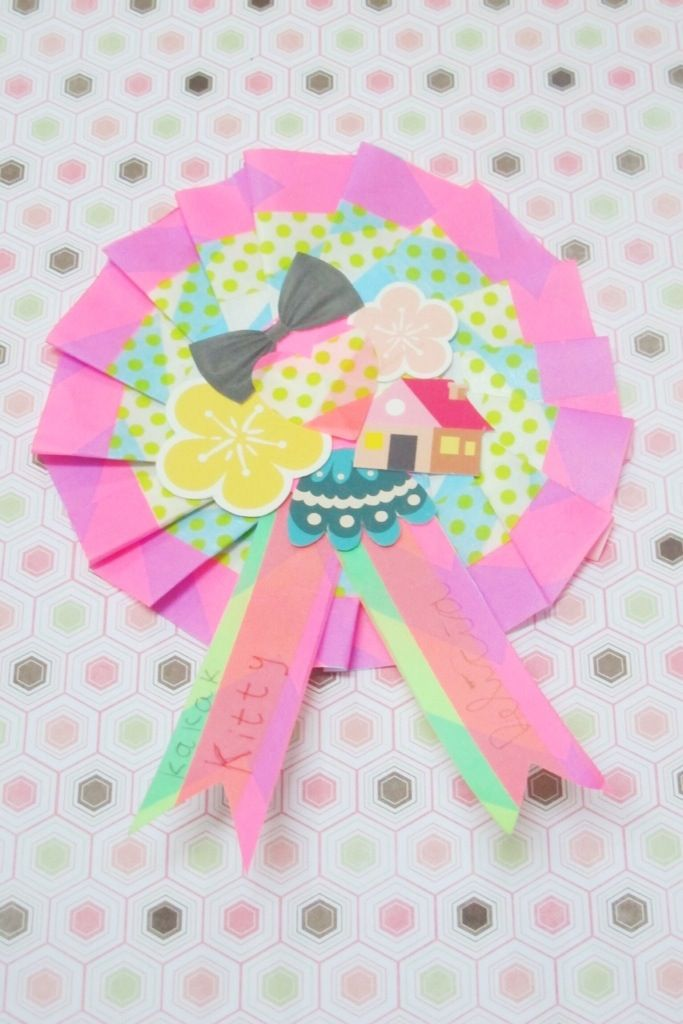 DIY Paper medallion washi tape | kitty manu