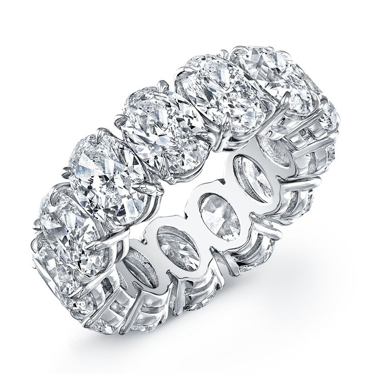 Norman Silverman - Oval Cut Diamond Eternity Band in Platinum available at David Orgell -Beverly Hills