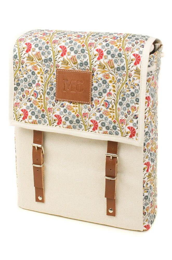 Persian floral print backpack