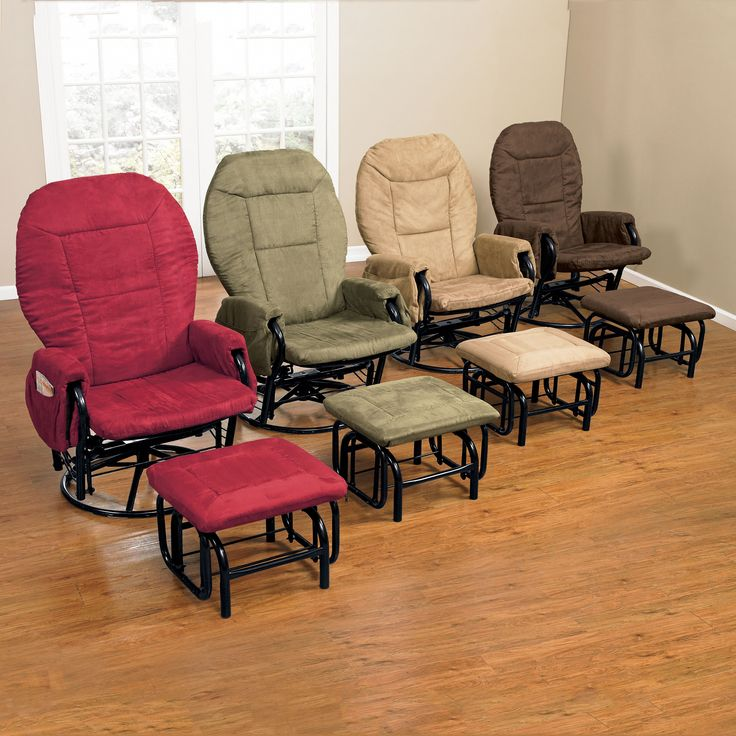 Extra Wide Glider U0026 Ottoman Set | Plus Size Chairs | Brylanehome