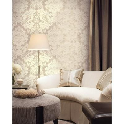 getting this brewster 56 sq ft large damask wallpaper - Damask Bedroom Ideas
