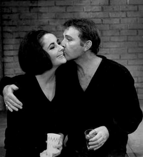 Liz Taylor and Richard Burton