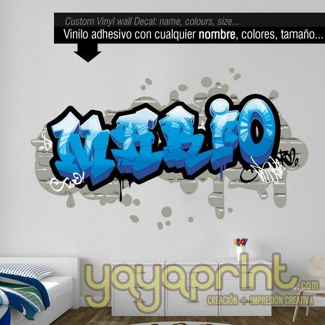 195 mejores im genes sobre graffiti de nombre en vinilo for Vinilos habitacion juvenil chico