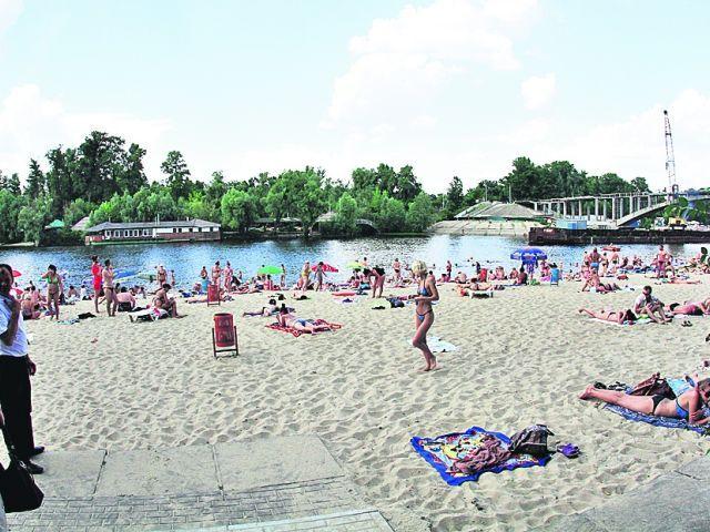 Детский пляж в Гидропарке