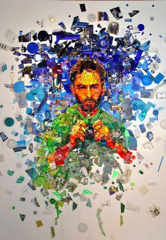 Dario Tironi - Recycled Objects Self Portrait