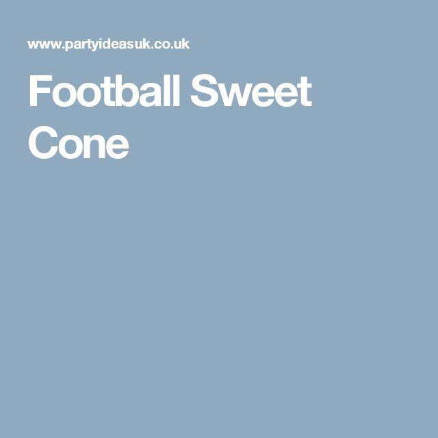 Football Sweet Cone