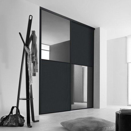 24 best porte de garde-robe images on Pinterest Sliding closet - rail pour porte de placard