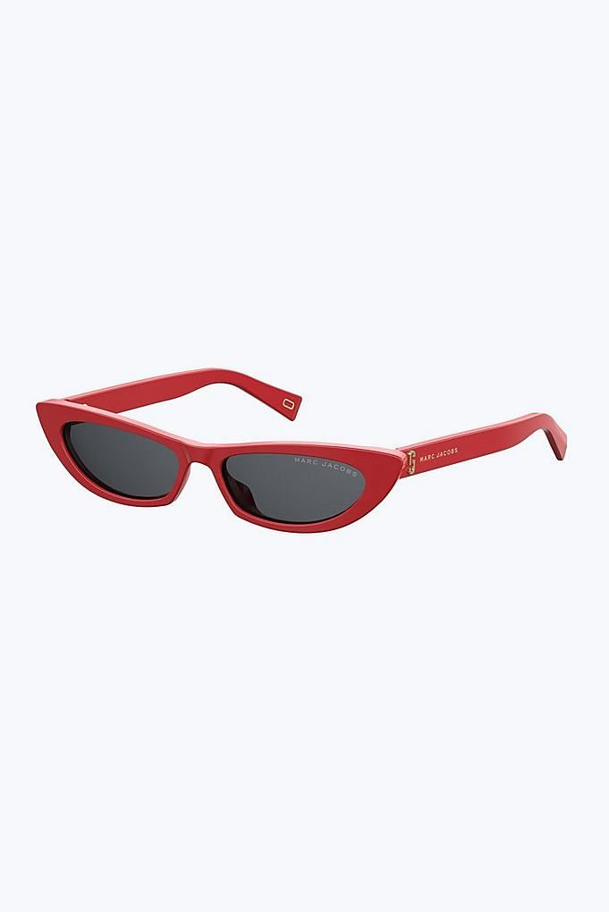 fbdf1140aec8 Marc Jacobs Signature Mini Cat-Eye Sunglasses in Red/Black | Marc ...