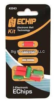 Pro-Troll Fishing Products EChip Kit - 3 EChips And 5 Mounts (Large)