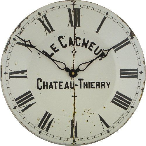 special offers roger lascelles large enamel cacheur clock 142 inch in stock - Feldstein Kaminsimse