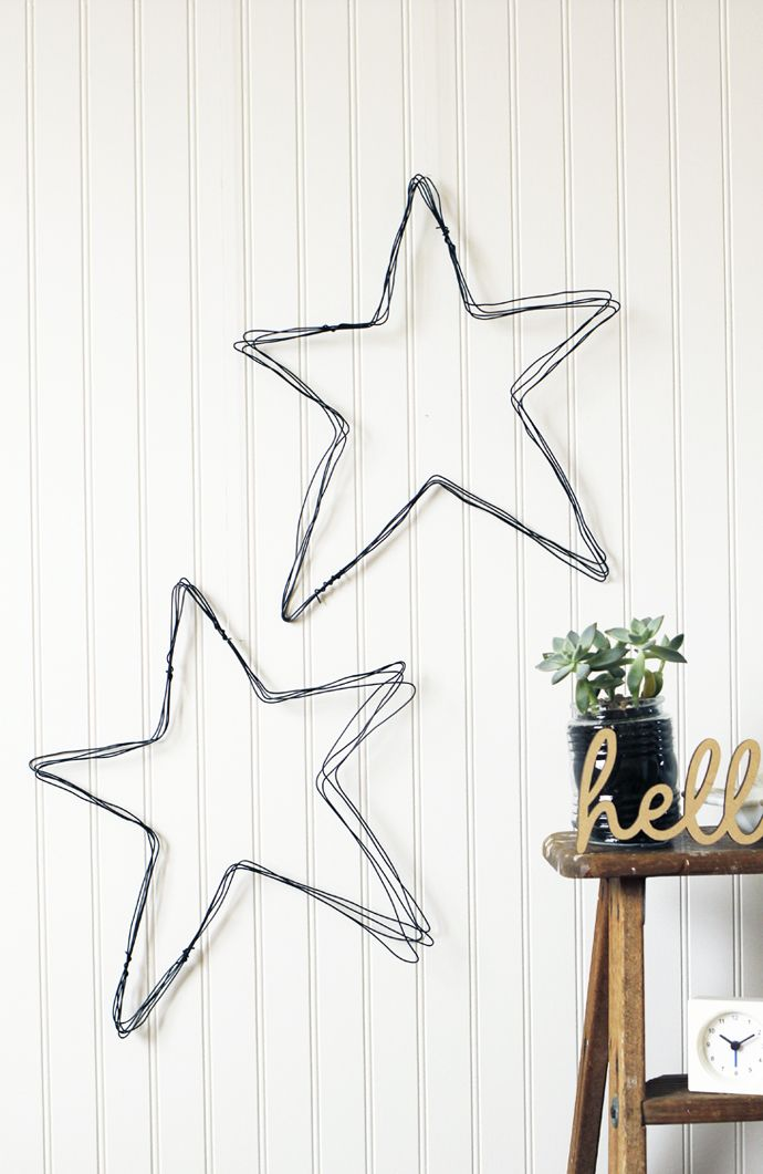 diy star wire cut out - not quite the kind of star I'm looking for, but maybe?