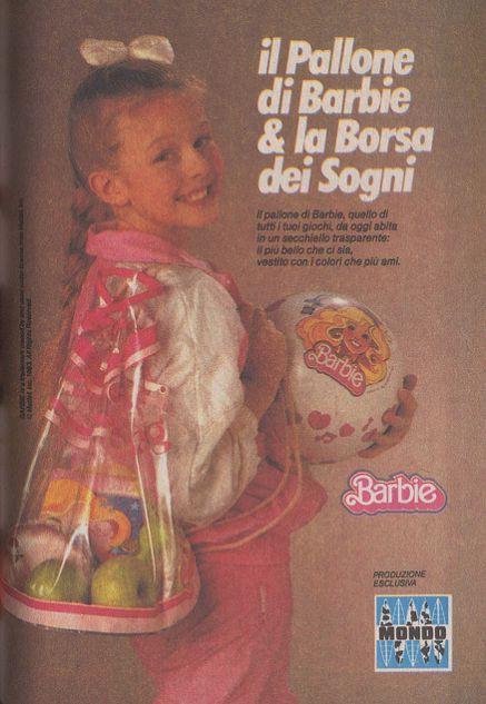 Barbie advertising 1987 il pallone di #barbie