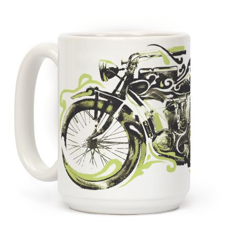 Vintage Motorbike Coffee Mugs | LookHUMAN | Wellness ...