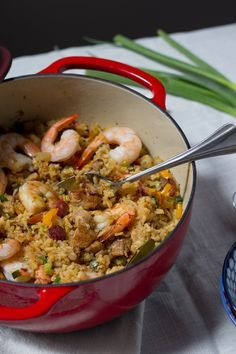 Chinese-inspired Jambalaya - This Jambalaya is a comforting, flavorful, one-pot meal with a Chinese twist. Come find out what the secret ingredients are! | www.saucy-spatula.com