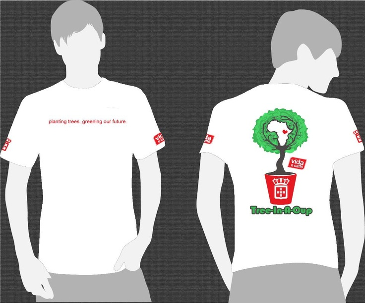 Design for the Tree-In-A-Cup and Vida e Caffe co - branding    STAFF T-SHIRT DESIGNS