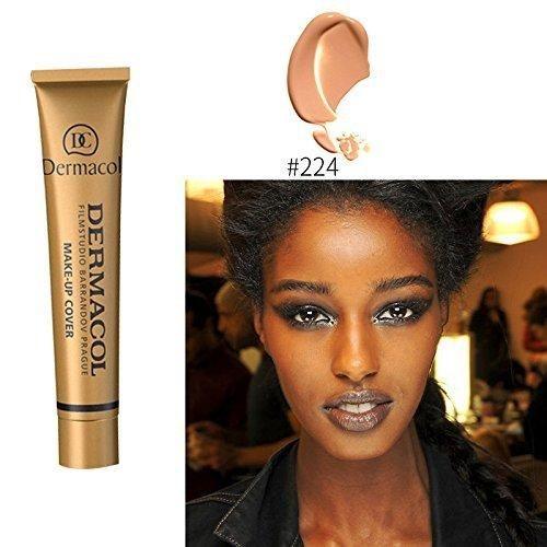 Tanned skin 5 colors 100% Original Dermacol base primer corrector concealer cream makeup base tatoo consealer face foundation contour palette 30g (#224)