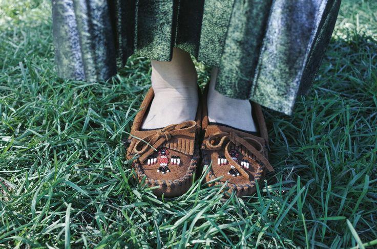 Minetonka moccasins outfits metal skirt