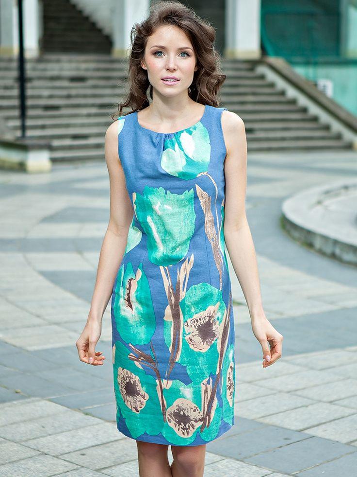 Çiçek desenli keten elbise - Quiosque http://subbshop.com/tr/%C3%A7i%C3%A7ek-desenli-keten-elbise-quiosque