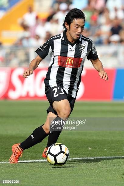 Portimonense forward Shoya Nakajima from Japan during the match between Portimonense SC and Deportivo das Aves for the Portuguese League Cup at...