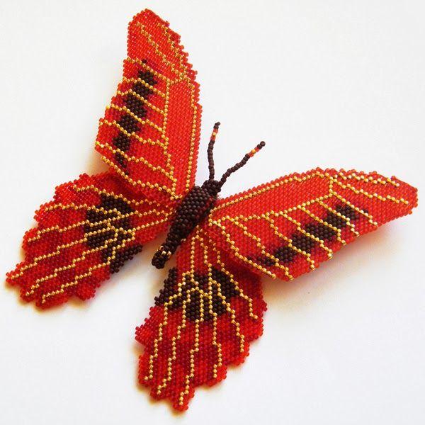 Koralikowy zawrót głowy: Walentynkowy motyl (krwiopijca ;) )
