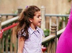 Here's a photo of Selena Gomez when she was in Barney when she was a little girl.