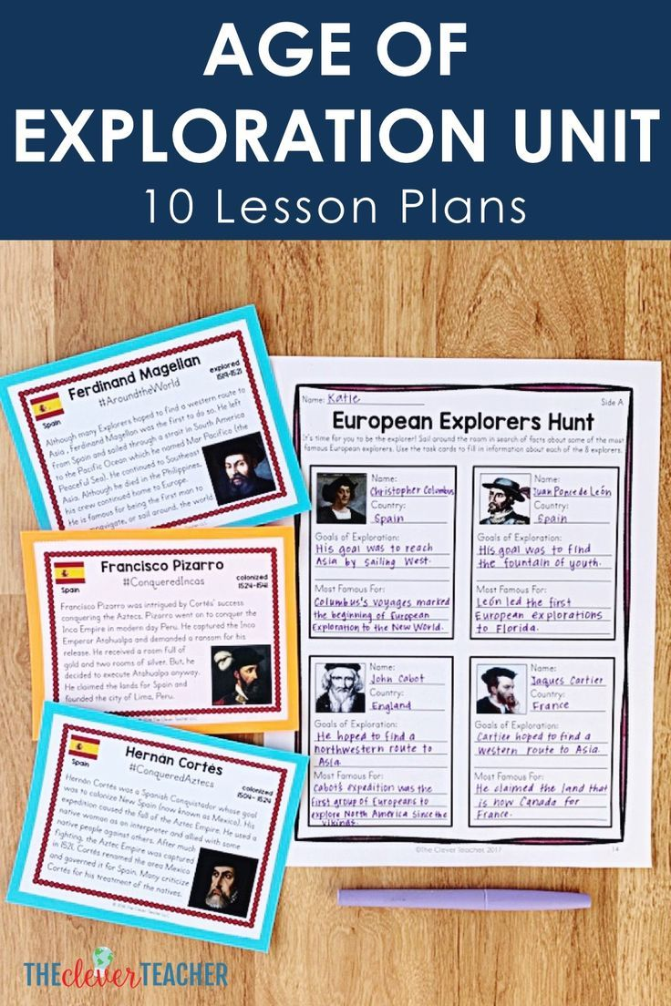 10 Interactive Age of Exploration Lesson Plans for Middle School   Social  studies worksheets [ 1104 x 736 Pixel ]
