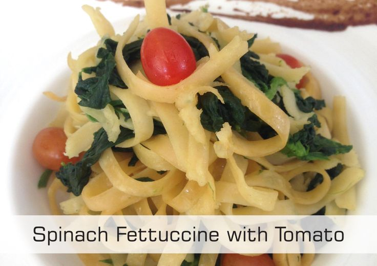 Spinach Fettuccine with Tomato only at Rp. 124.000++/portion