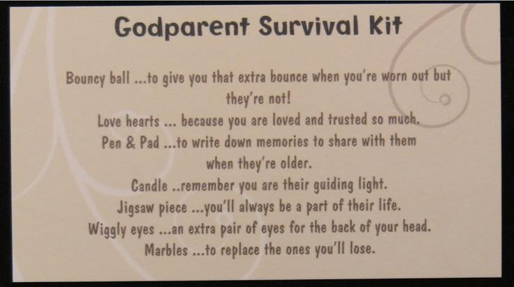 Godparent - survival kit to make