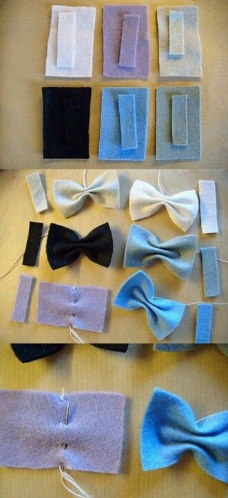 hair bows or bow ties!