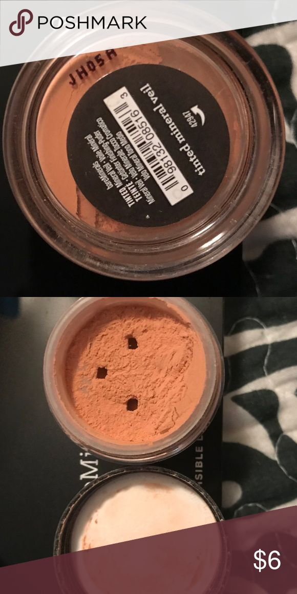 New opened BareMinerals Tinted mineral veil Opened, new Tinted mineral veil. I swatched on my hand and it is to dark for me in my opinion. If you have olive or suntanned skin, this may be perfect for you or you could use it on cheeks for a sun kissed look. Open and smaller container so price reflects this. 😊💋🎉 bareMinerals Makeup Face Powder