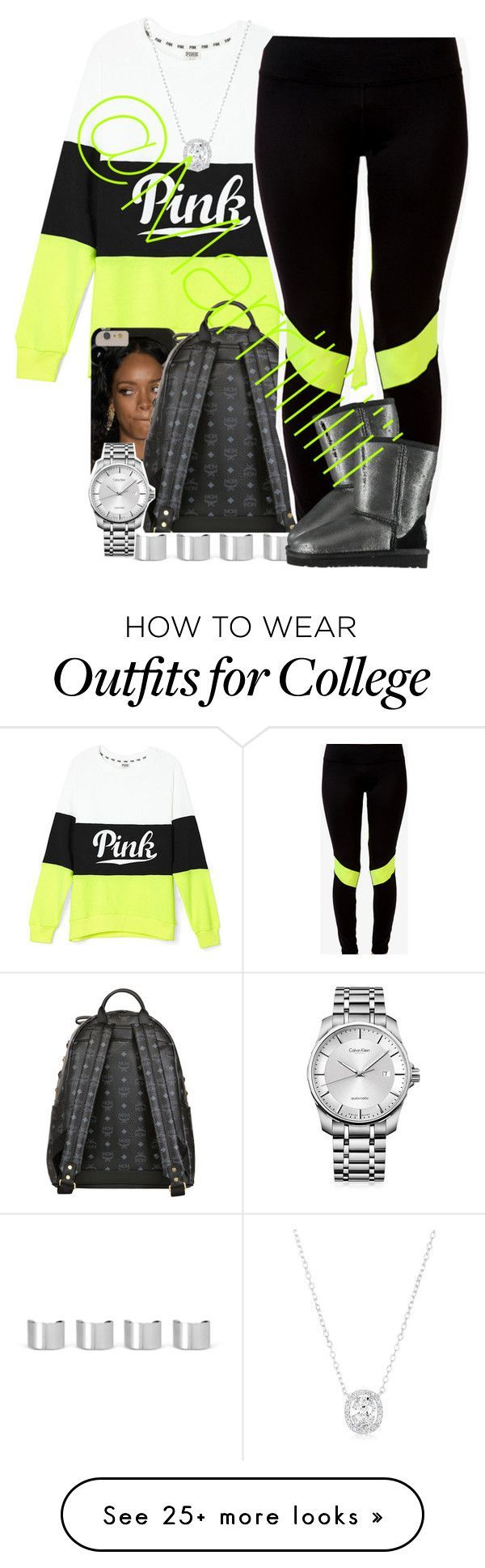 """""""PINK"""" by trill-forlife on Polyvore featuring MCM, Maison Margiela, Forever 21, Calvin Klein and UGG Australia"""