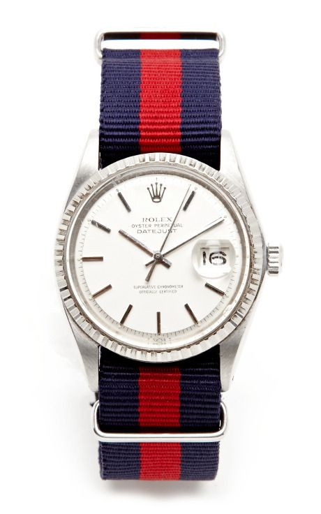 1968 Rolex Oyster Perpetual Datejust With Adjustable Strap Options by CMT Fine Watch and Jewelry Advisors for Preorder on Moda Operandi