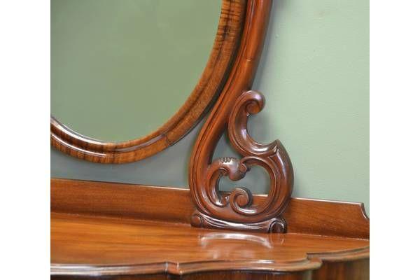 Beautiful Victorian Mahogany Duchess #Antique Dressing Table | Vinterior London  #closeup #design #interiors #vintage