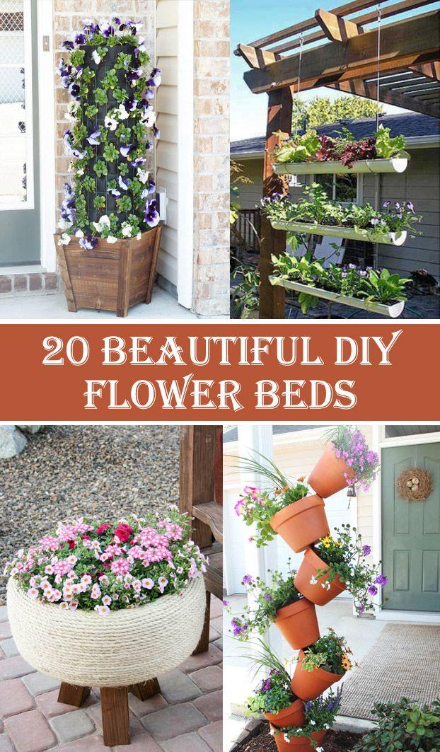 20 Beautiful DIY Flower Bed Ideas