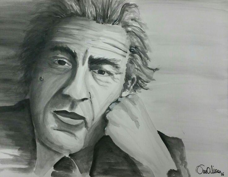 Ritratto Robert De Niro. Acquarello by Annalisa Tombesi