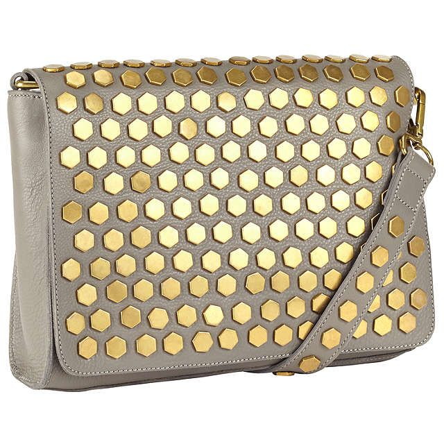 BuyAND/OR Clea Leather Across Body Bag, Grey Online at johnlewis.com