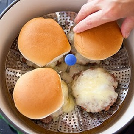 steamed cheeseburger machine