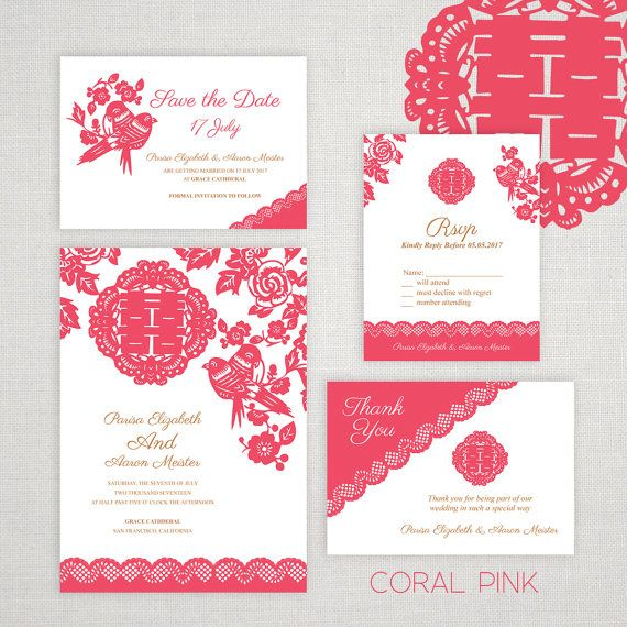 105 best Chinese wedding invites images on Pinterest Invitations