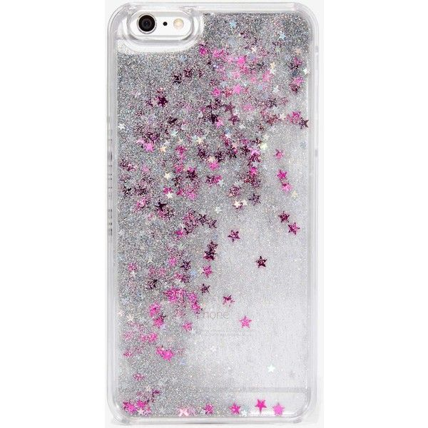 Skinnydip London Fairy Dust iPhone 6 Plus Case ($28) ❤ liked on Polyvore featuring accessories, tech accessories, phone accessories and silver