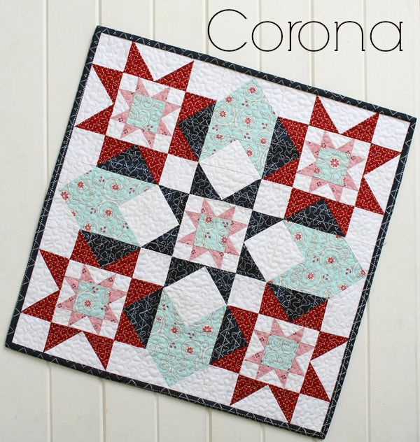 Threadbare Creations- Corona Mini Quilt PDF Pattern