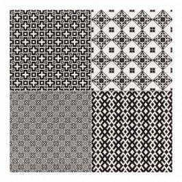 Terakota Collage 45 x 45 cm negro 1,44 m2