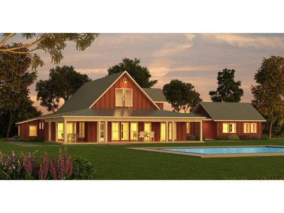 Barn House Plan Such A Nice Layout Love All The Unique Features