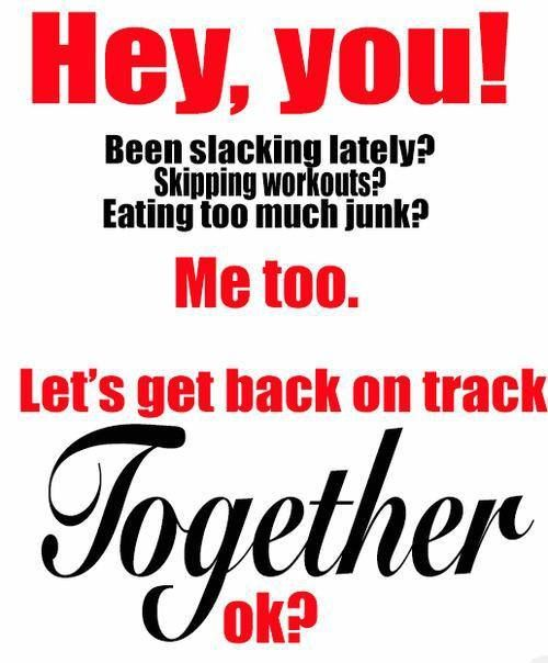 Get back on track! If you need a coach for a little push or some support find me on Facebook www.fb.com/lindsey.wit.fitness