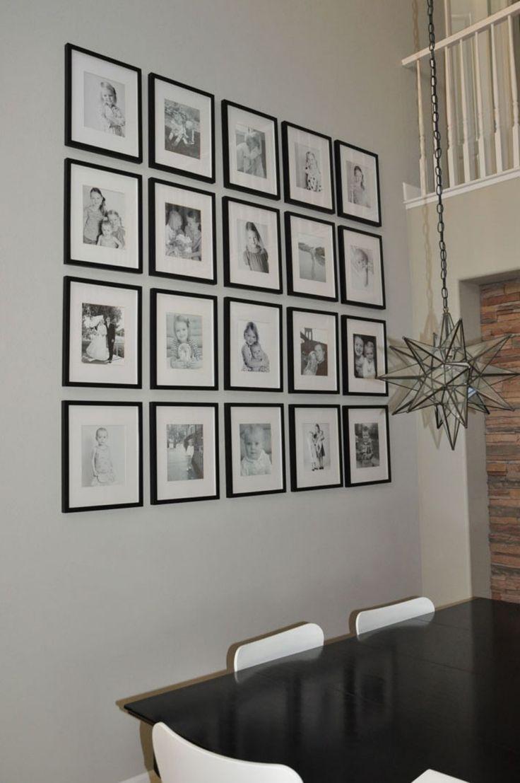 Как разместить картинки на стене, открытки