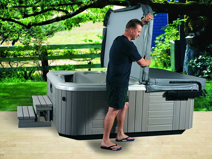 The 30 best Excellent Hot Tub Cover Lift Design Ideas images on ...