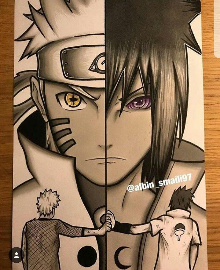Narusasu Naruto Sketch Naruto Drawings Naruto Sasuke